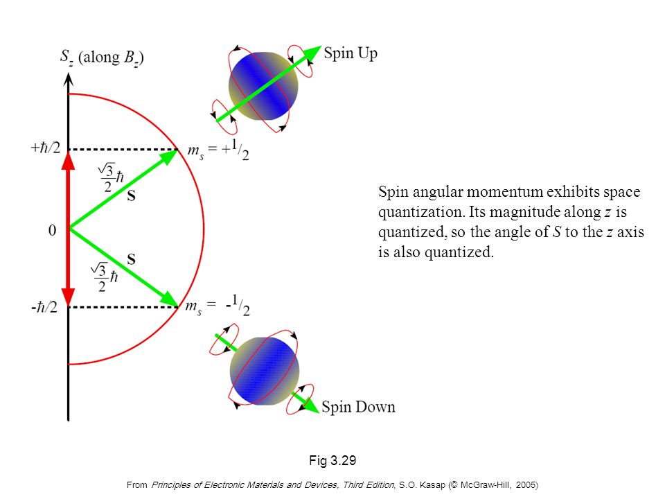 Electron Spin and Intrinsic Angular Momentum S