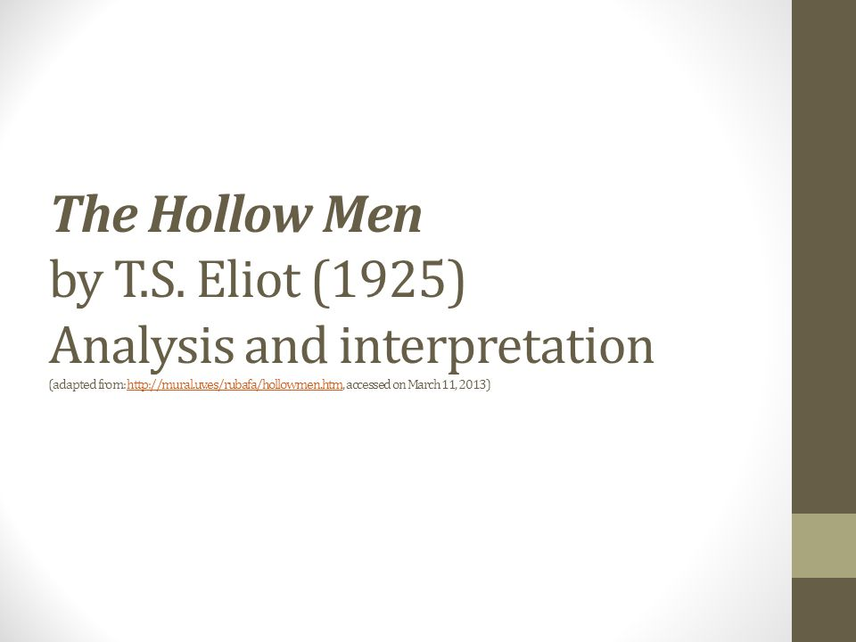 ts eliot the hollow men