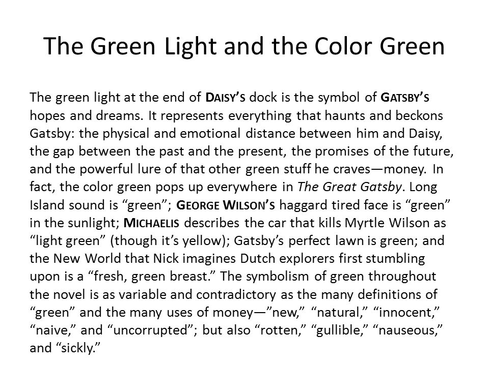 the great gatsby symbolism of houses Symbolism 1-3 symbolism the last symbol in the first chapter of the great gatsby is the green light where ashes take the forms of houses and chimneys.