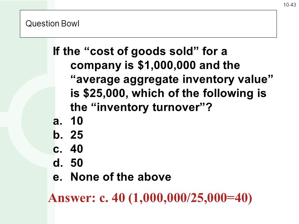 10-43 Question Bowl.