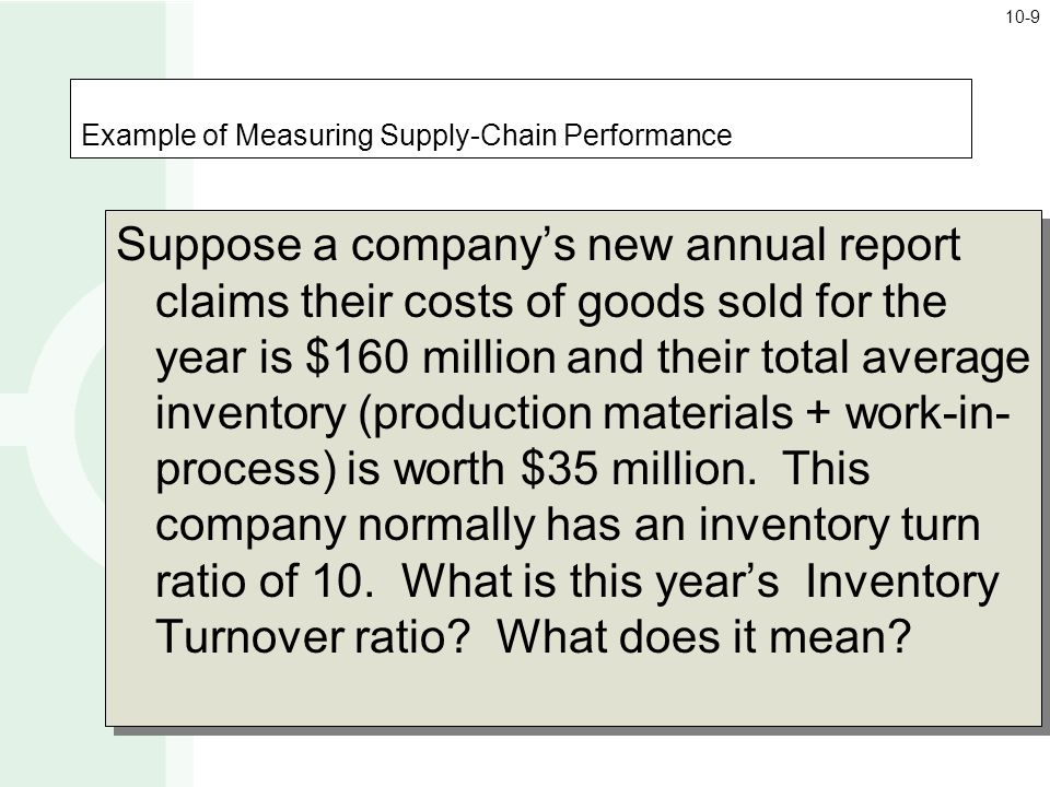 Example of Measuring Supply-Chain Performance