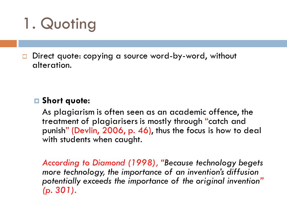 Direct Quote Fair Referencing & Paraphrasing  Ppt Video Online Download