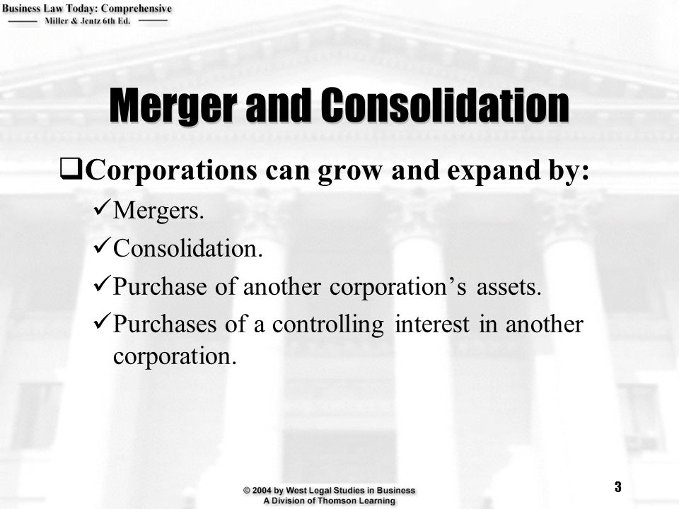 Merger and Consolidation
