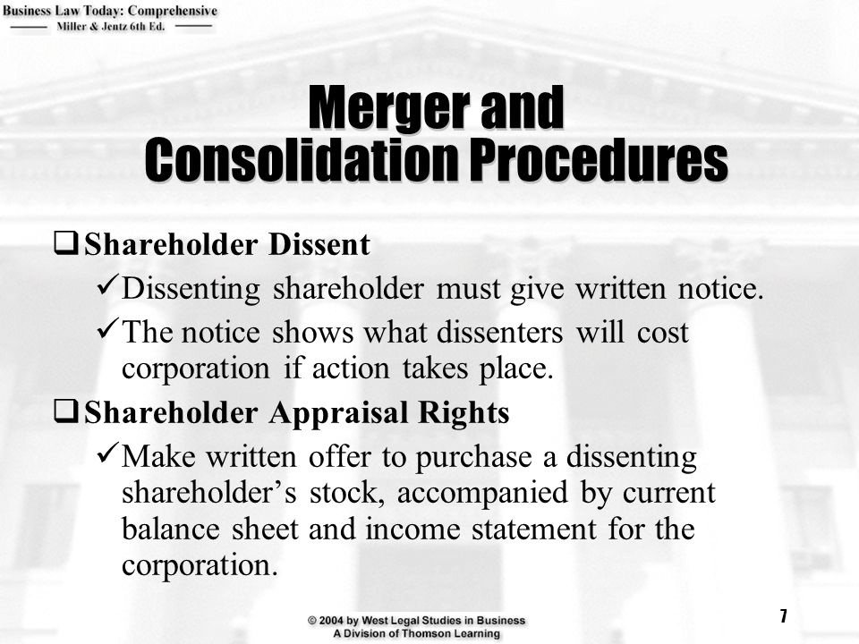 Merger and Consolidation Procedures