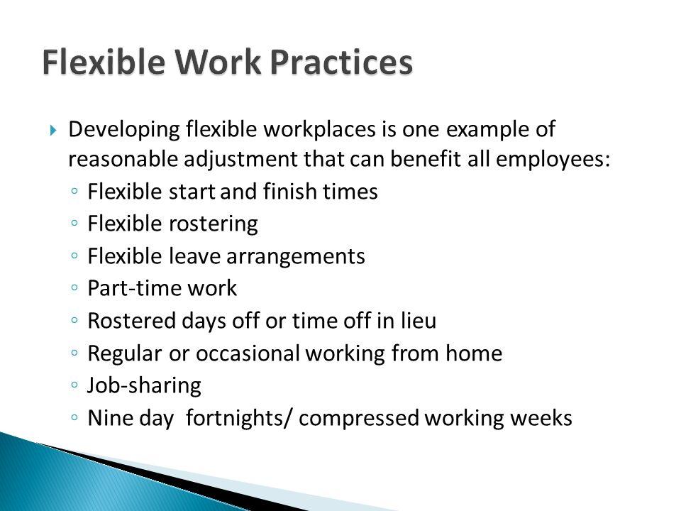 Flexible Work Practices