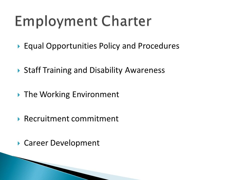 Employment Charter Equal Opportunities Policy and Procedures