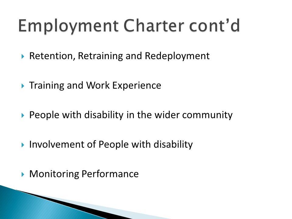 Employment Charter cont'd