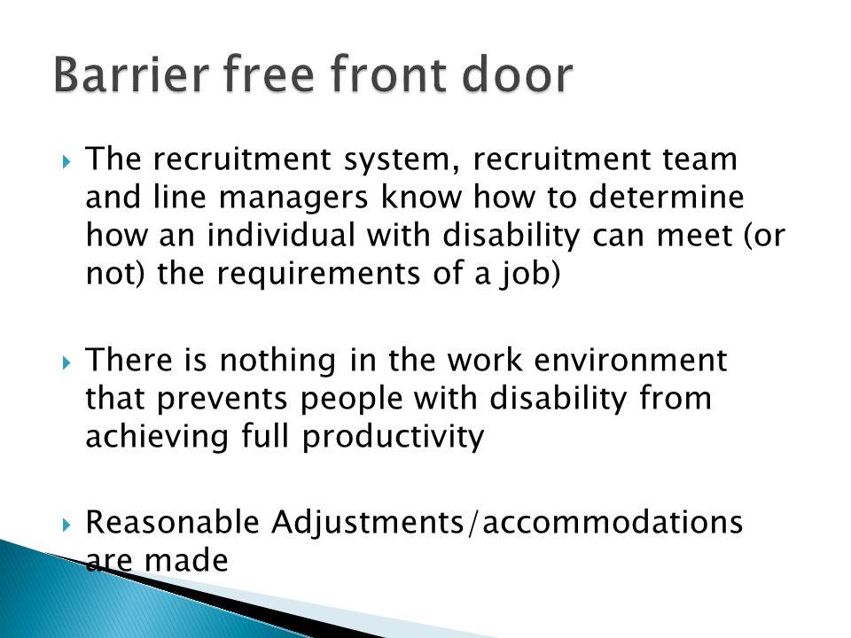 Barrier free front door