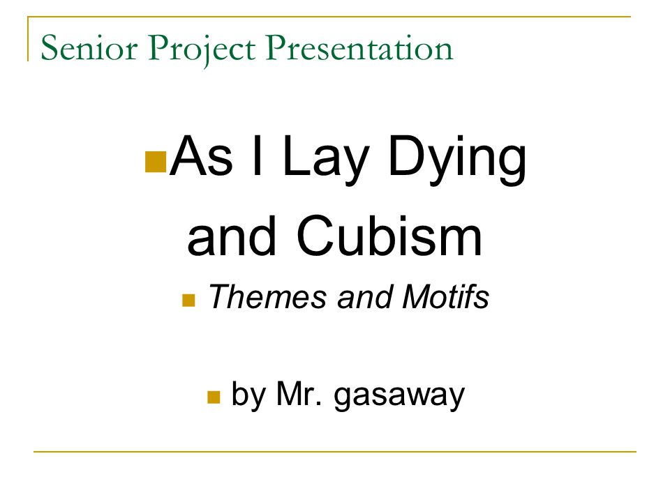 senior project presentation It's always fun to discover and invent newer ways of making a presentation so that your audience is truly engaged and remembers the presentation days and months after it was made.