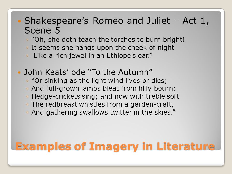 An Analysis of Shakespeare's Use of Light and Dark Imagery In Romeo and Juliet