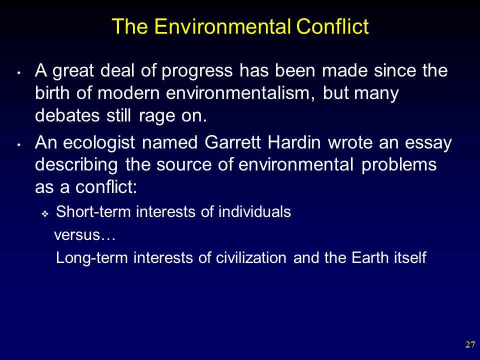 Essay describing conflict