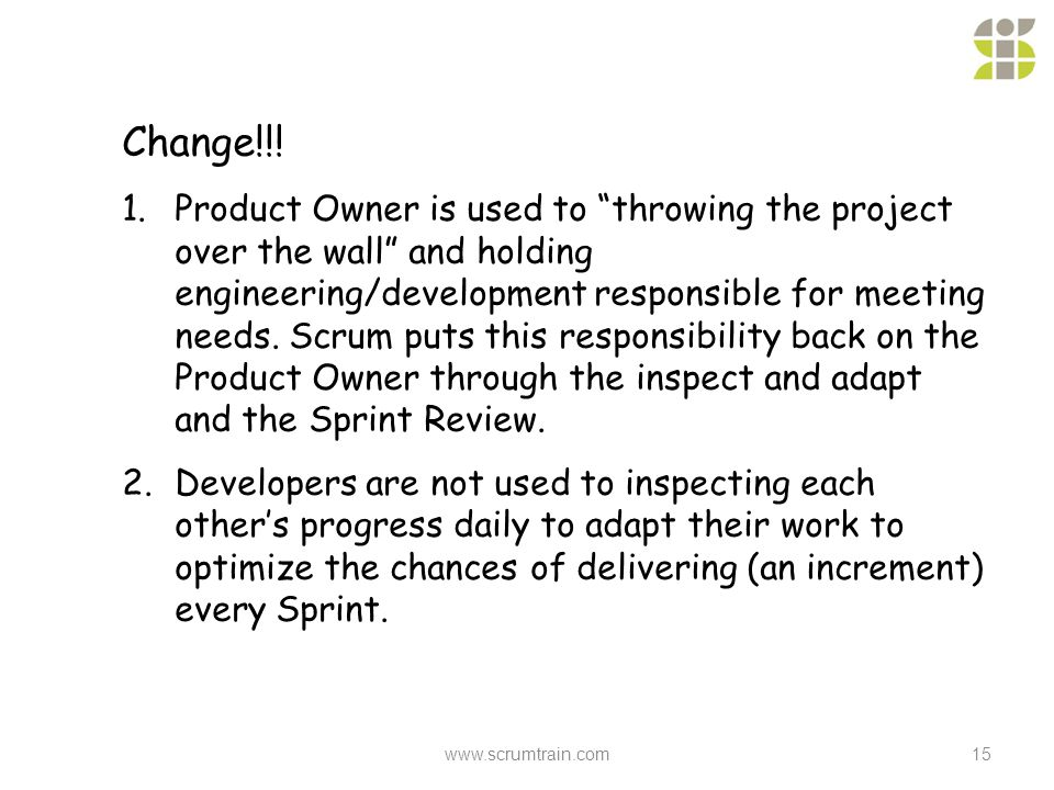 according to scrum guidelines who is responsible for hiring