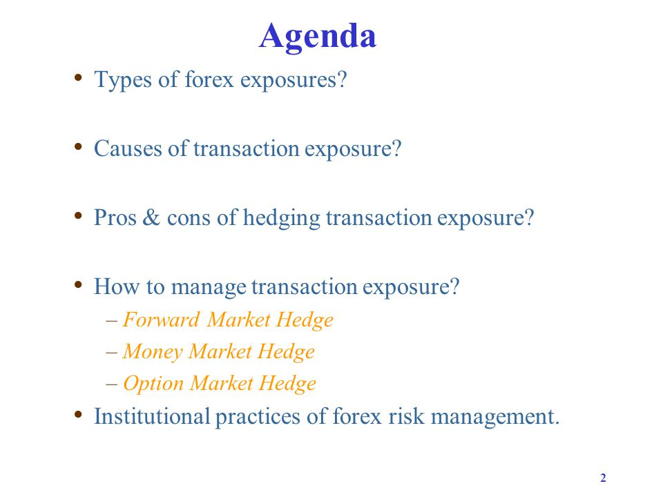 Types of transactions and settlements in forex market