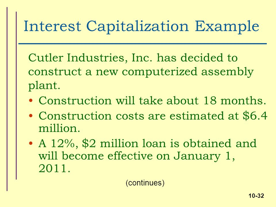 Investments in noncurrent operating assets acquisition Construction loan costs