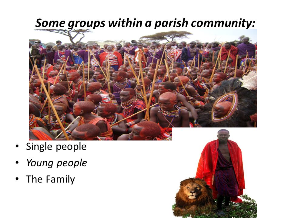Some groups within a parish community: