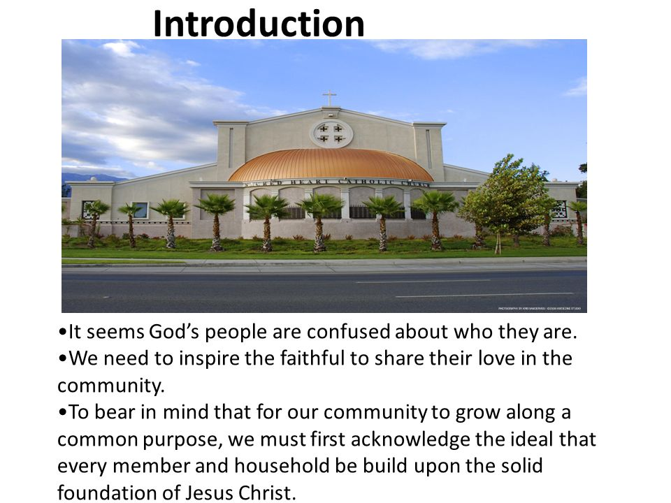 Introduction It seems God's people are confused about who they are.
