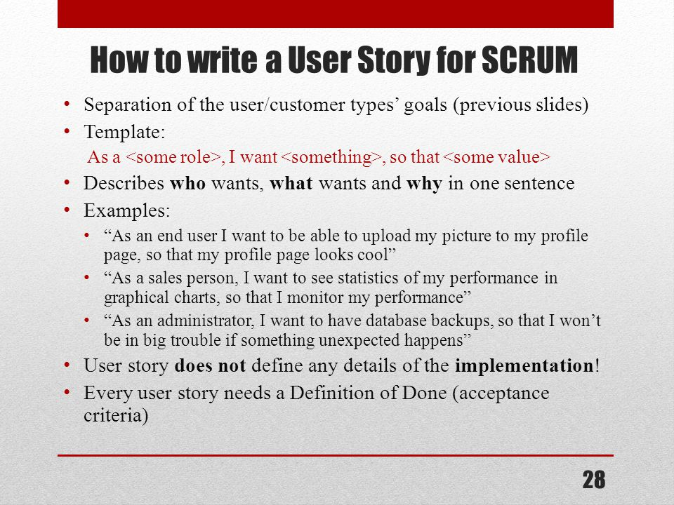 Scrum ppt video online download for Scrum user stories template