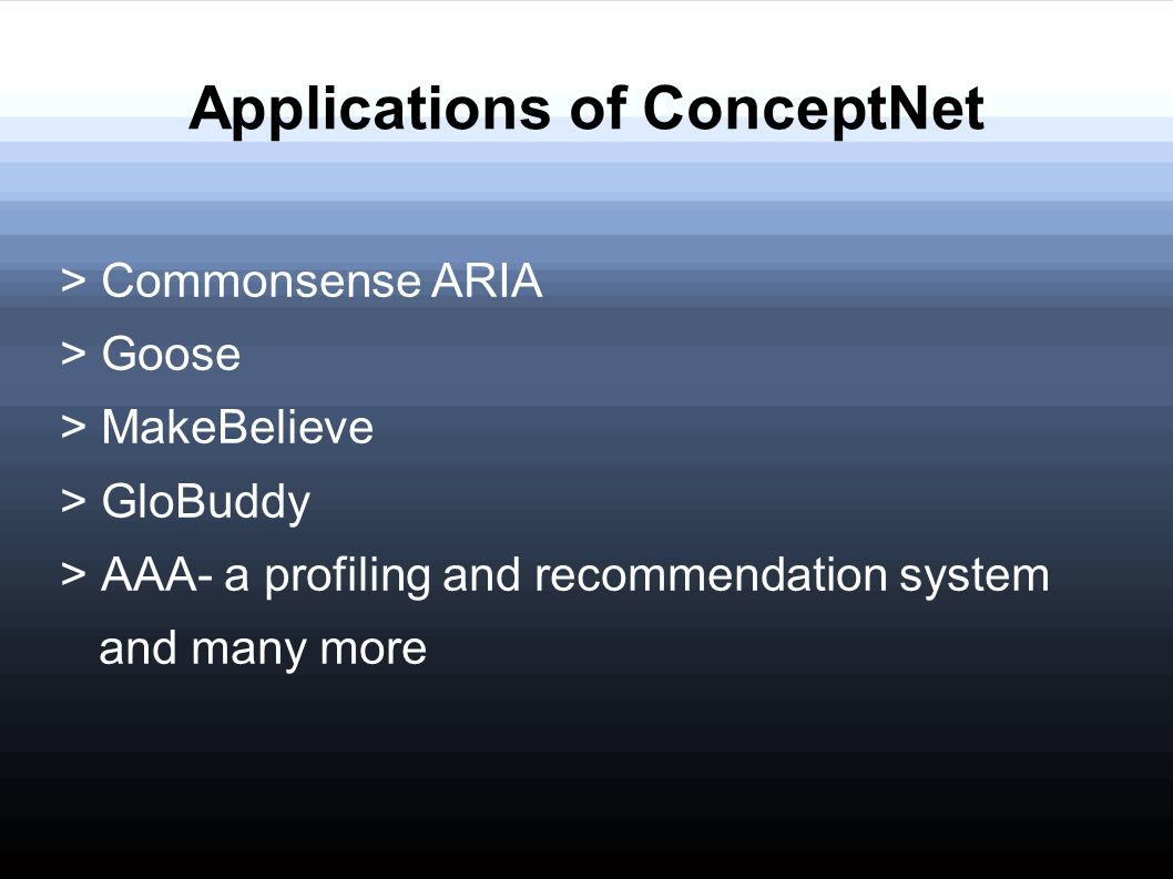 Applications of ConceptNet