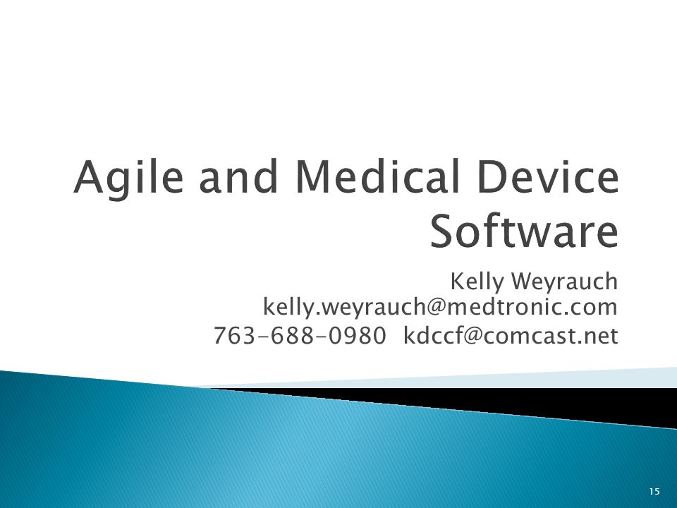 Agile and Medical Device Software