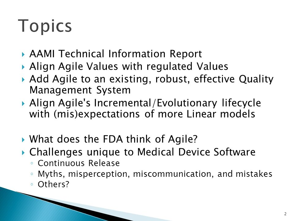 Topics AAMI Technical Information Report