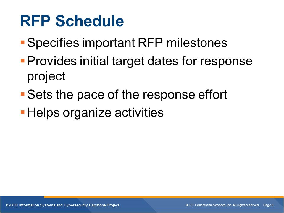 rfp is4799 Summary: the best vendor is the one most suited to your requirements the only expert is yourself - the buyer stay focused on your own requirements don't be afraid to let the vendors educate you about their products or services closed questions (multiple choice) are better than open.