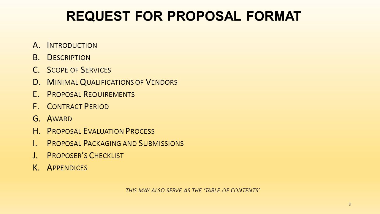 Competitive contracting process request for proposal rfp process 9 request for proposal format xflitez Gallery