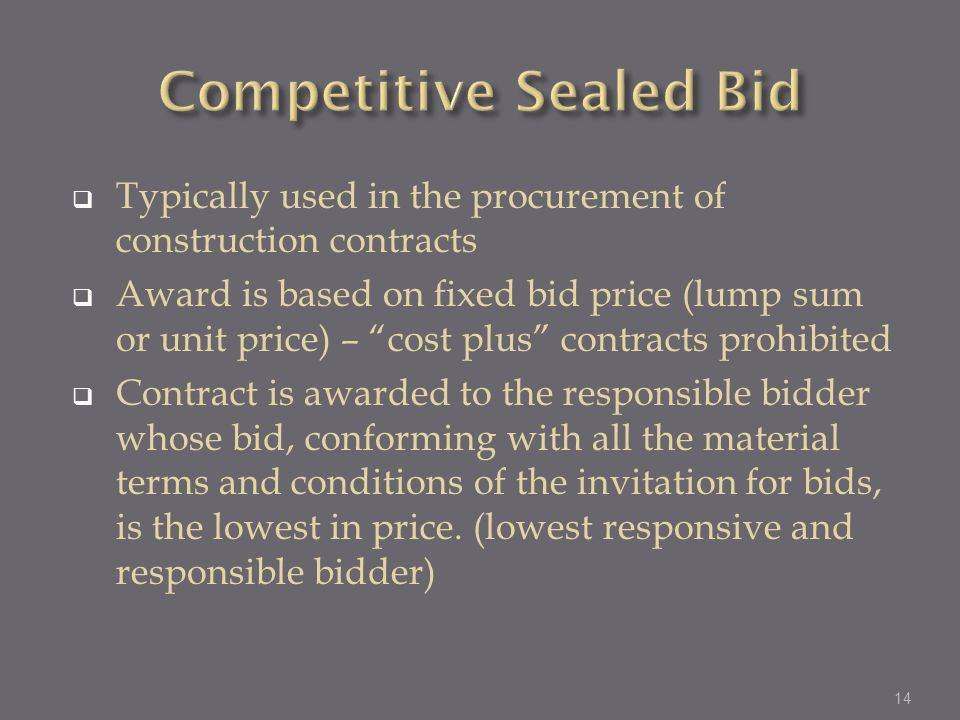 Marcy mealy procurement specialist cdbg program ppt for Fixed price construction contract