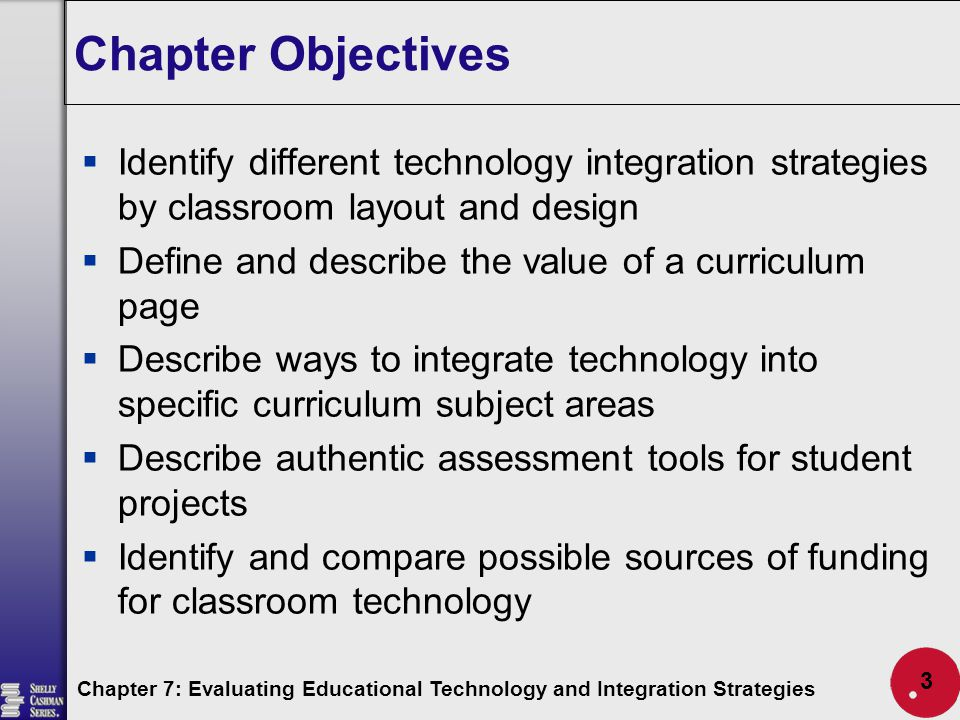 Classroom Design Strategies : Evaluating educational technology and integration