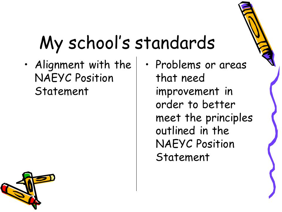 naeyc standards Essays - largest database of quality sample essays and research papers on naeyc standards.