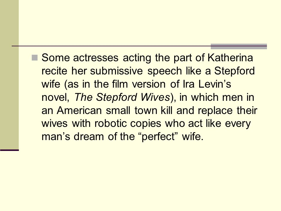 Stepford wives essay