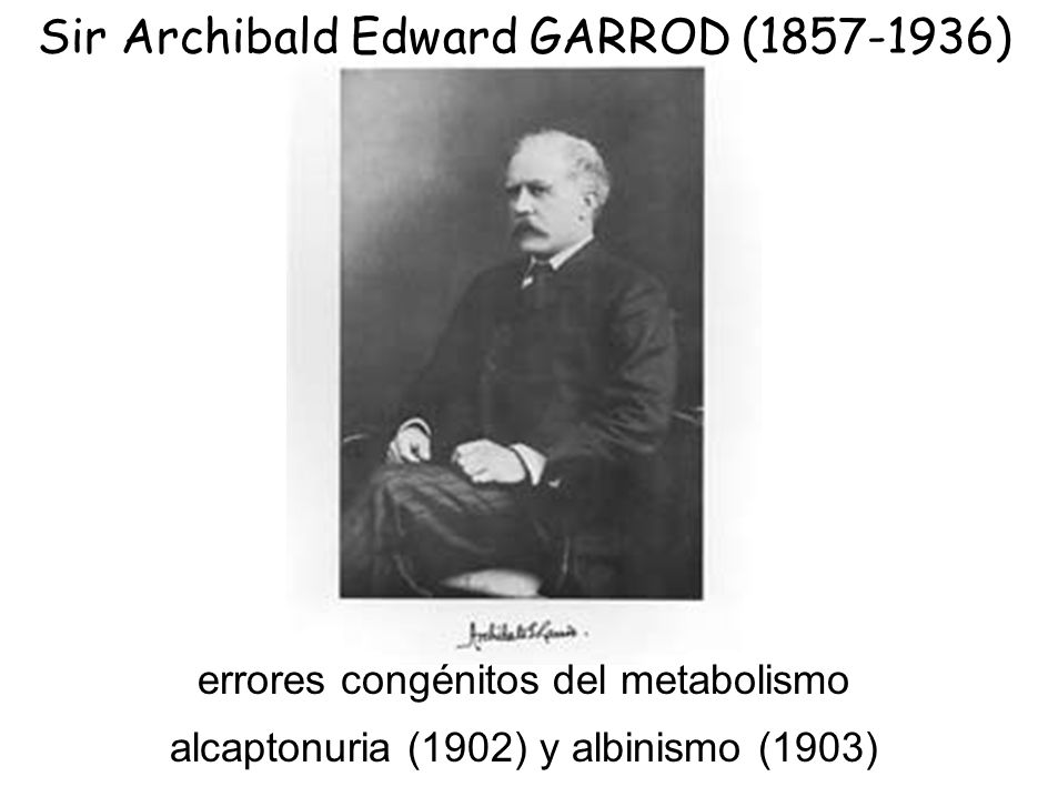 Sir Archibald Edward GARROD (1857-1936)