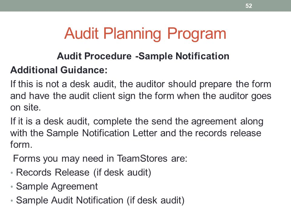 Developing A Standard Audit Program Using Cch Teammate Audit