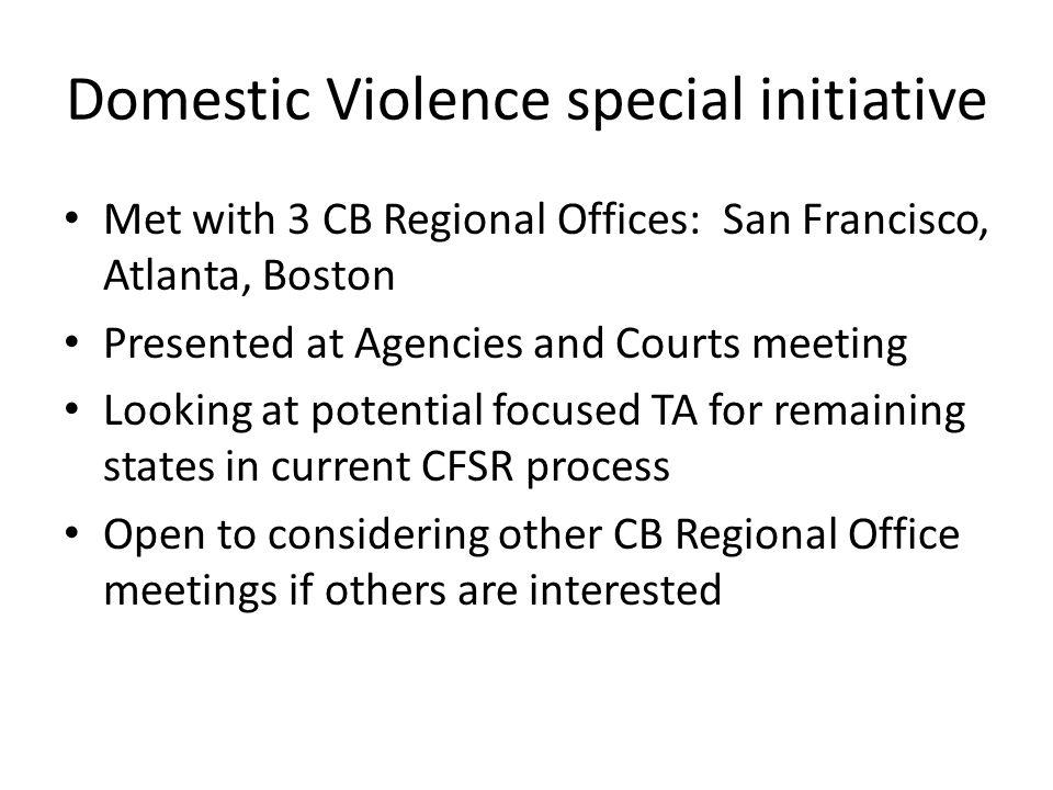 Domestic Violence special initiative
