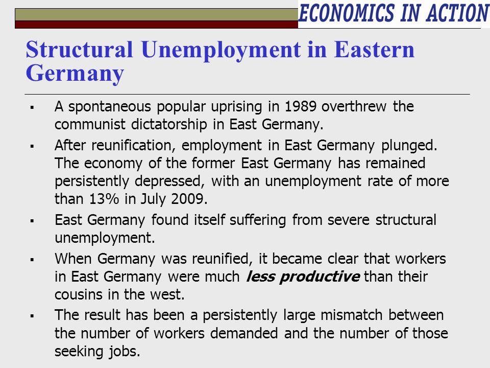 inflation and unemployment in germany As unemployment in germany falls, companies may need to pay more to attract  workers, which could further fuel inflation in the prosperous.