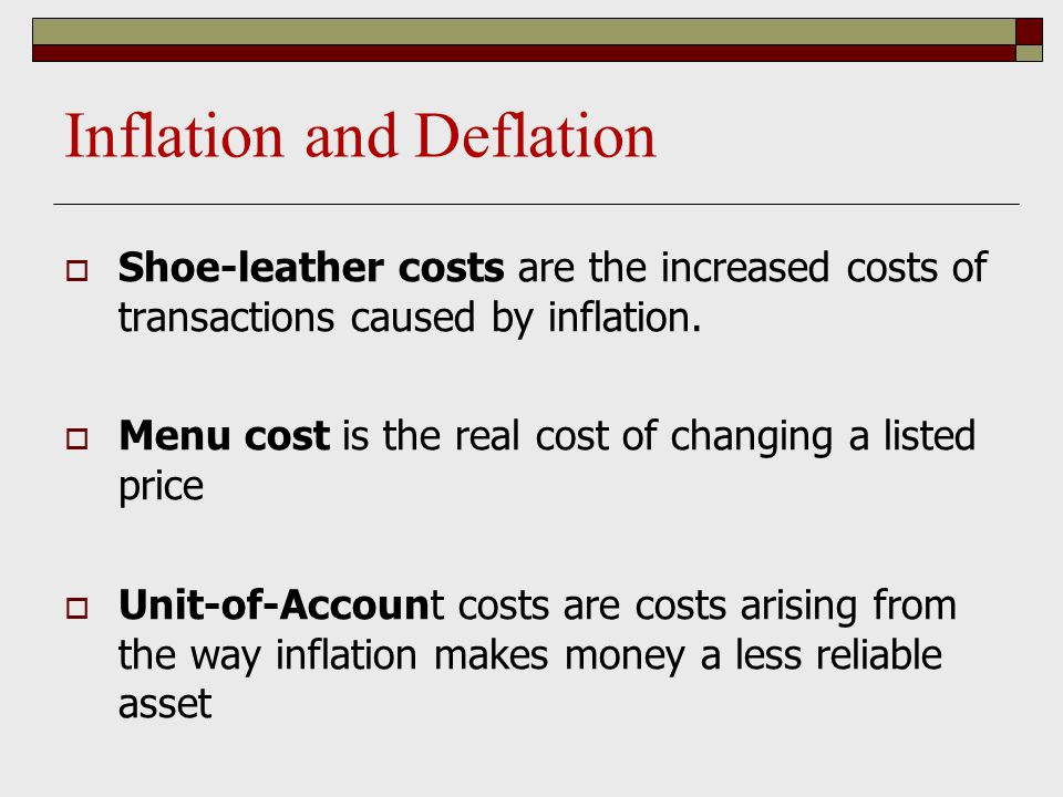Menu Costs And Shoe Leather Costs
