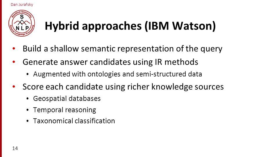 Hybrid approaches (IBM Watson)