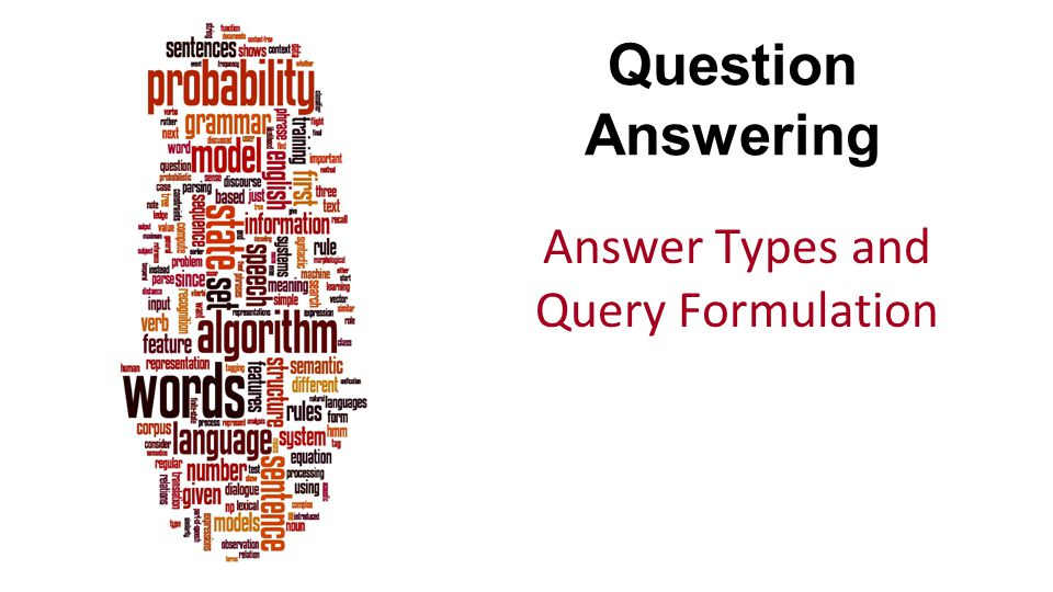 Answer Types and Query Formulation