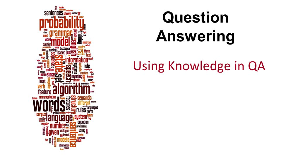 Question Answering Using Knowledge in QA