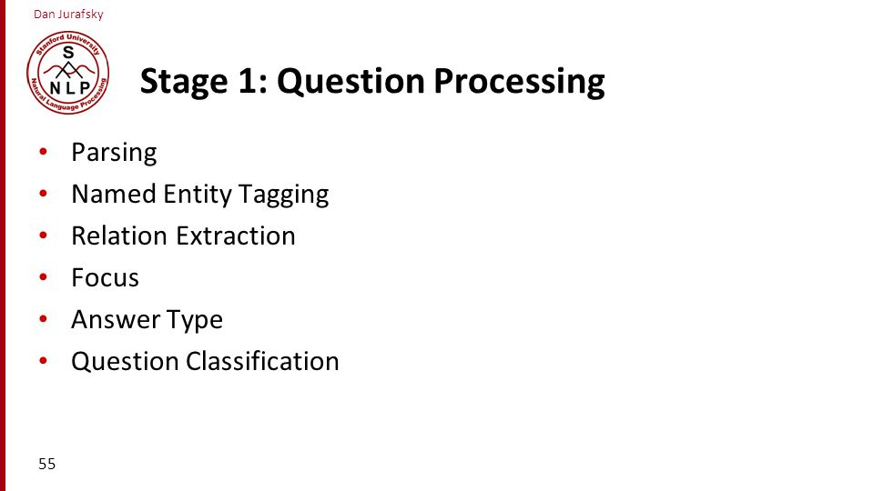 Stage 1: Question Processing
