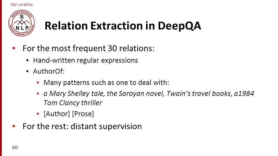 Relation Extraction in DeepQA