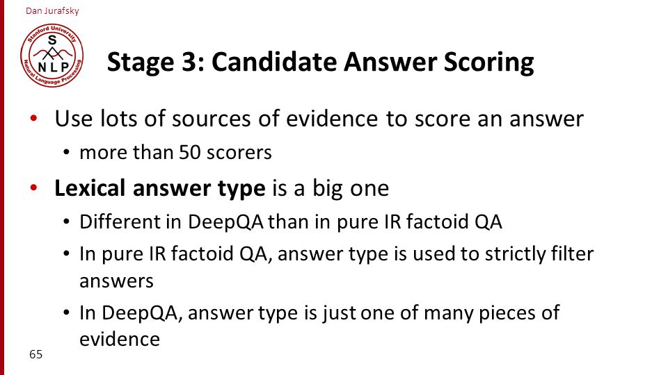 Stage 3: Candidate Answer Scoring