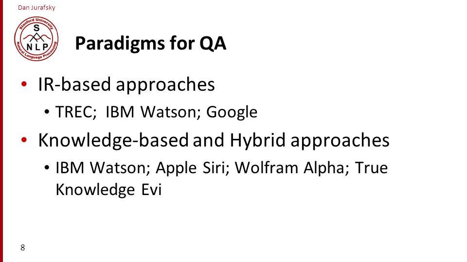 Knowledge-based and Hybrid approaches