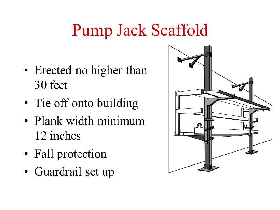 Pump Jack Scaffolding : Chapter scaffold safety ppt video online download