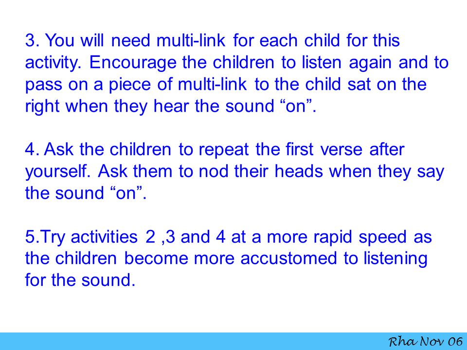 3. You will need multi-link for each child for this activity