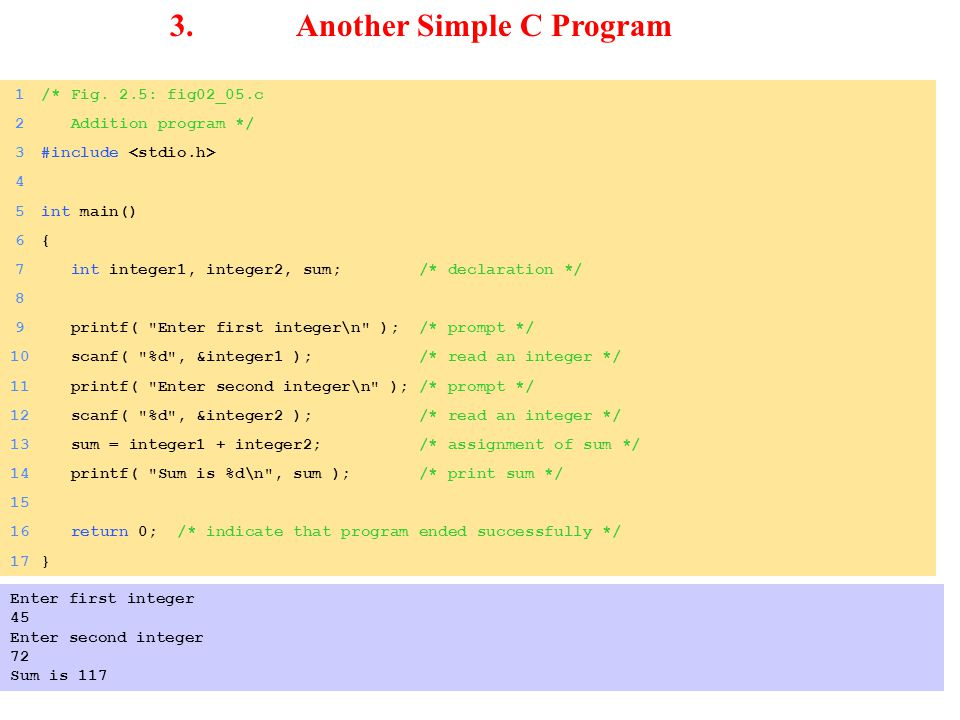 3. Another Simple C Program