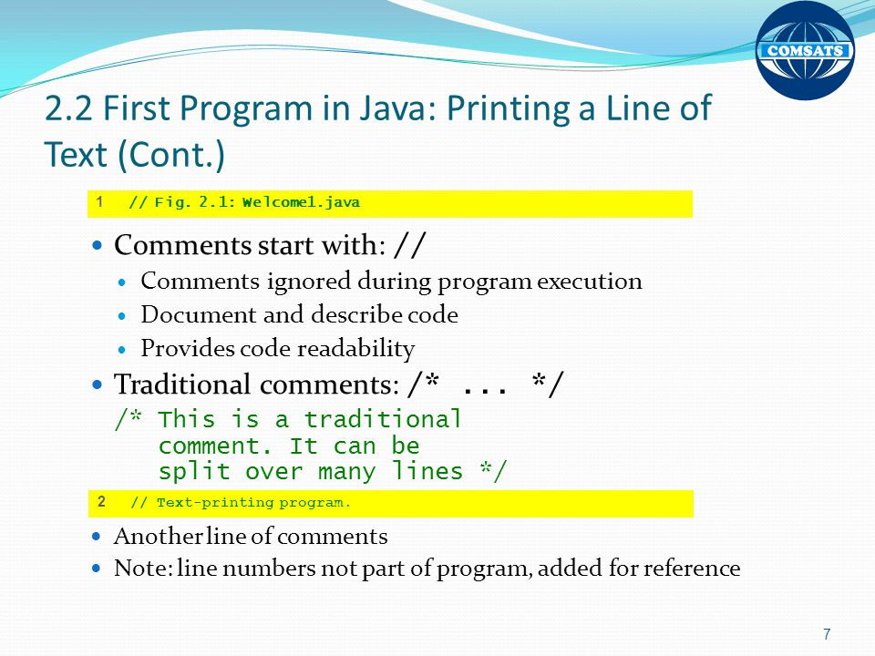 Chapter 2 Introduction To Java Applications