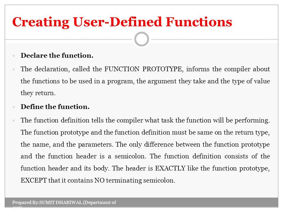 Declare Definition