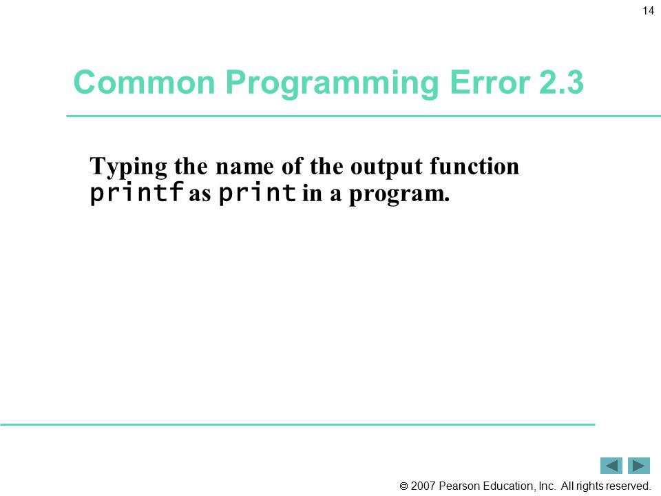 Common Programming Error 2.3