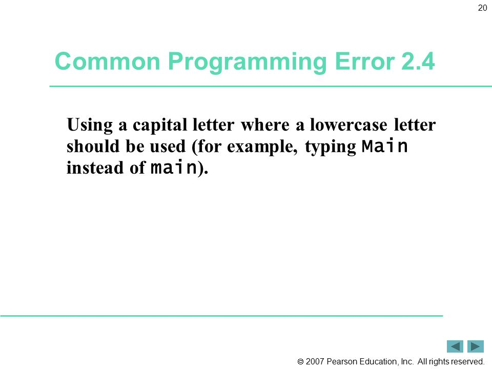 Common Programming Error 2.4