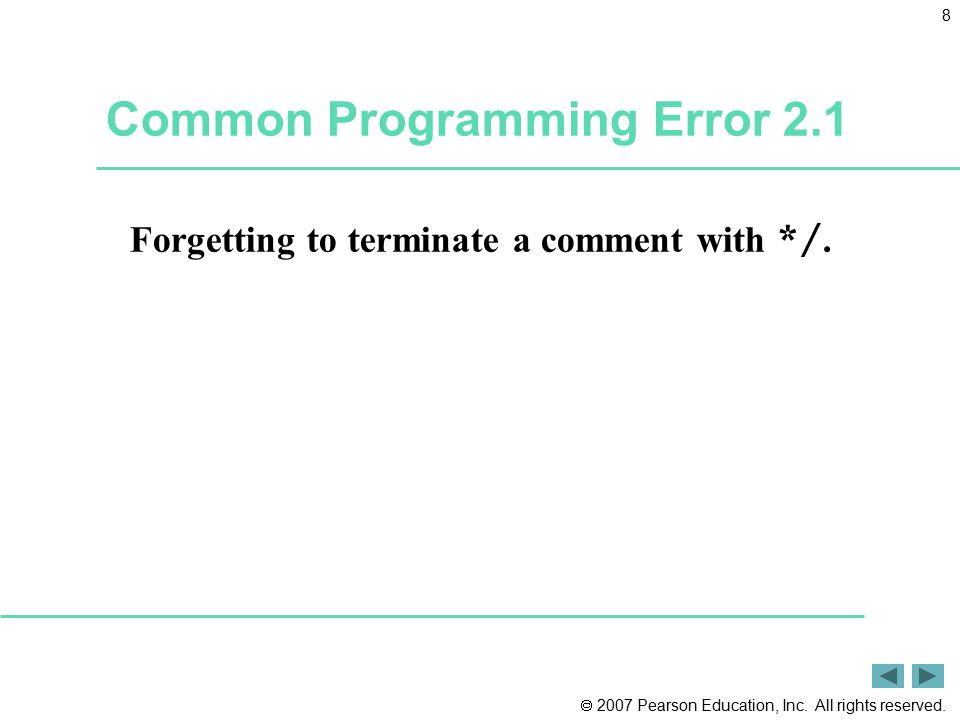 Common Programming Error 2.1